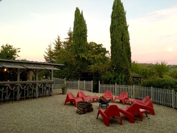 Terrace at sunset