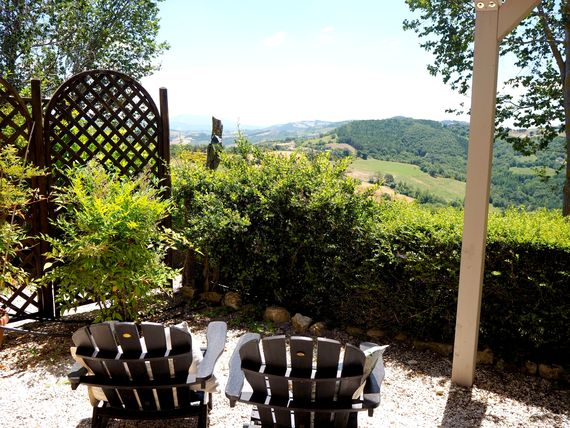 VIEWS OF THE MOUNTAINS FROM THE SPELLO TERRACE