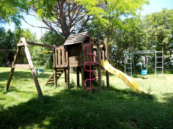 PLAY FORT, SWINGS AND SLIDES