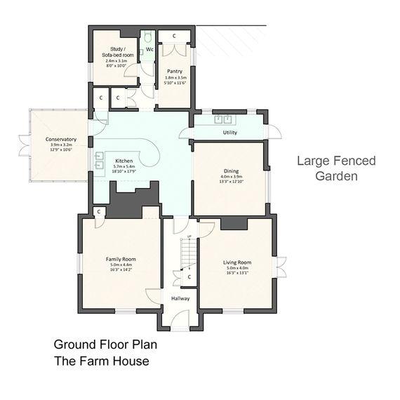 FarmHouse Ground Floor Plan