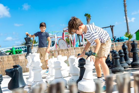 Giant Chess at Finca De Arrieta