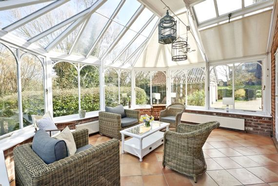 The conservatory is a great place to relax, entertain or just soak up the sunshine