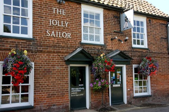 The Jolly Sailor is within 50 metres for delicious food or a pint of Suffolk's famous Adnams