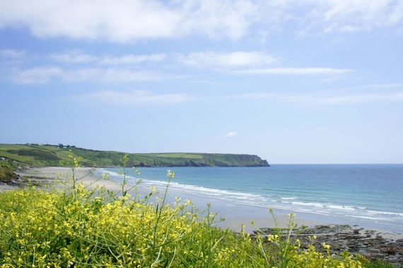 Carne beach within a short drive from the cottages