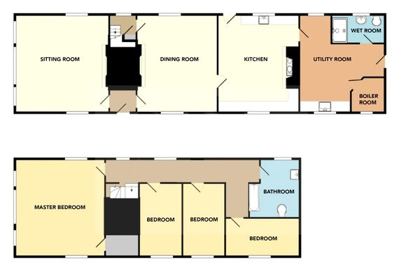 Floor plan of Brook Farm