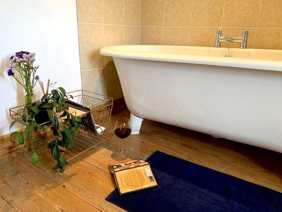 Family bathroom with claw-foot bath