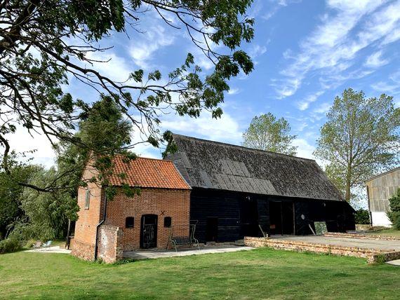 The Grade II listed barn
