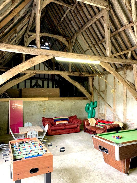 Grade II listed games barn