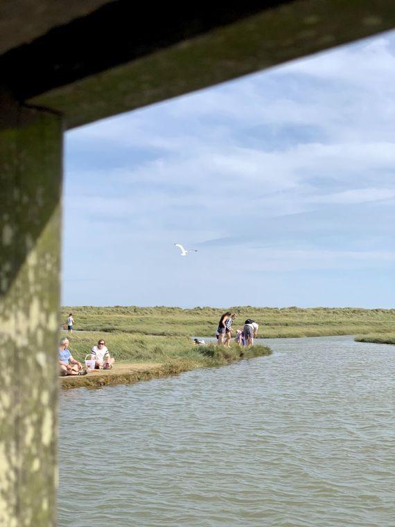 Crabbing at Walberswick