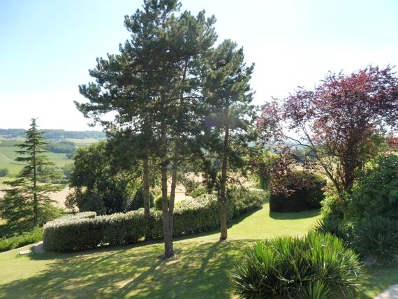 Garden views from Vionnet to the valley beyond