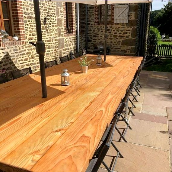 Kitchen outdoor dining area