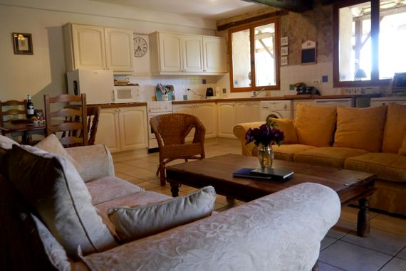 Plenty of comfy seating in the open plan living area