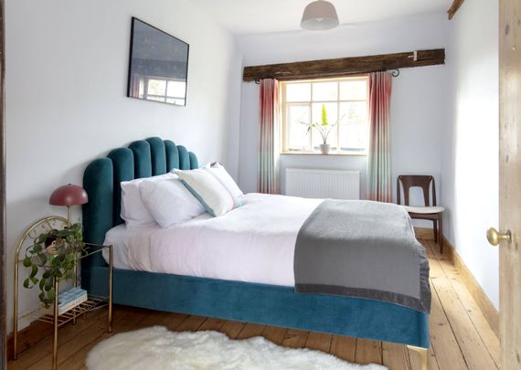The Deco room with double bed