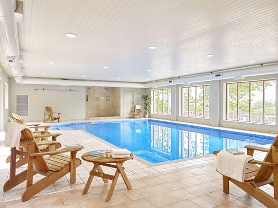 the communal indoor pool