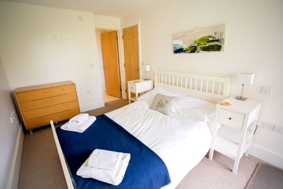 The second downstairs double bedroom with en suite