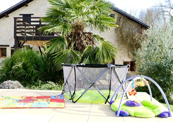 The villa has extensive infant and toddler equipment