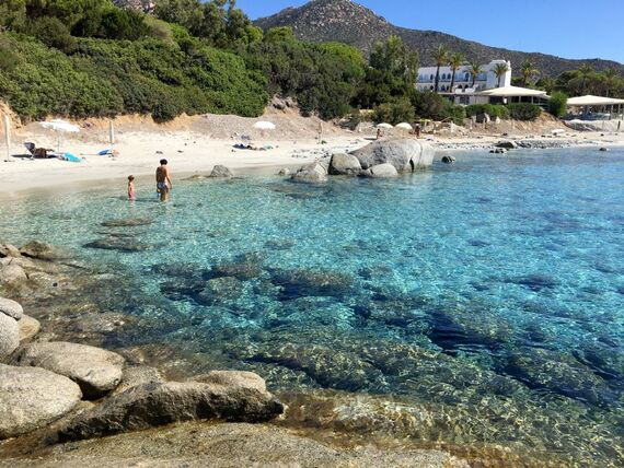 Private beach just 50 meters away from the villa