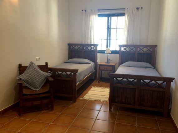 twin room with sea views