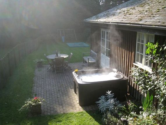 Steaming hot tub!
