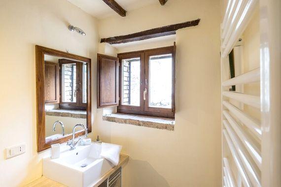 Bathroom and towel rail