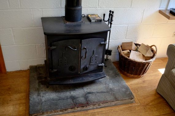 Large wood-burning stove