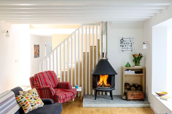 Wood burner for cosy evenings in