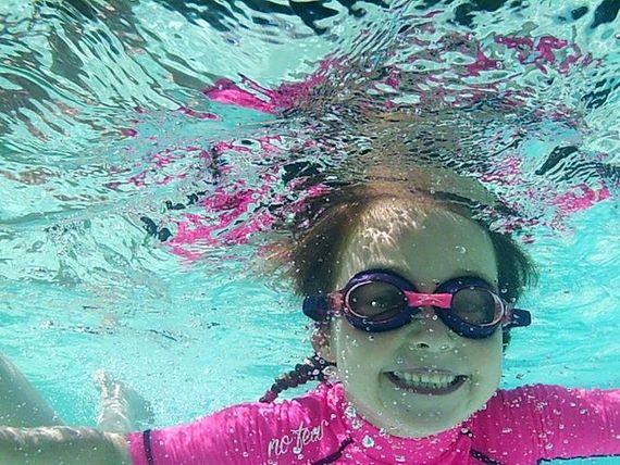 Splash, dive, swim.........