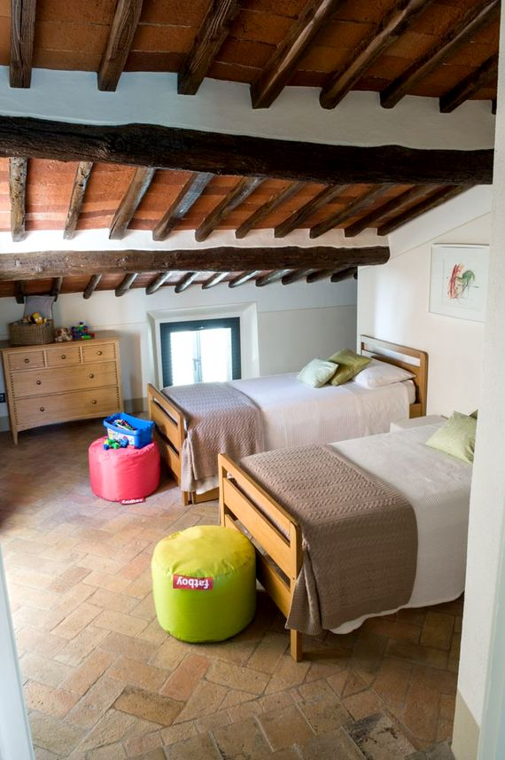Twin room with extra trundle bed