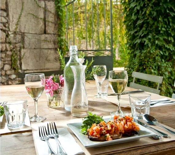 Enjoy outside dining in our restaurant
