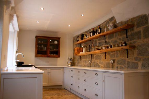 Kitchen with stone worktop