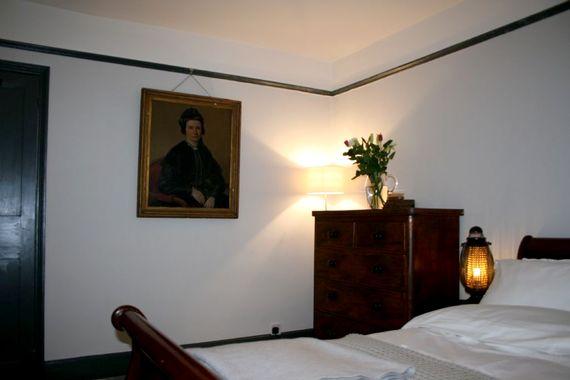 Antique furniture and artwork