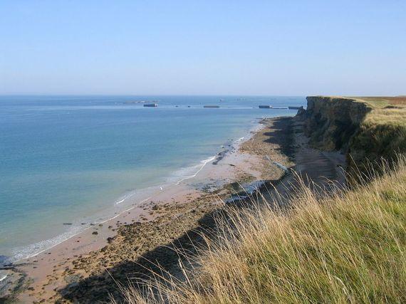 Beach at Longues-sur-mer 700m away