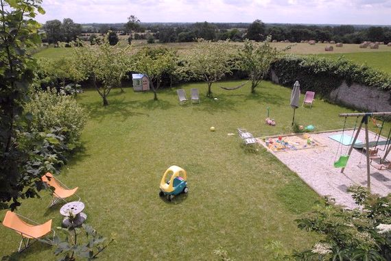 Walled garden and the view to the meadow