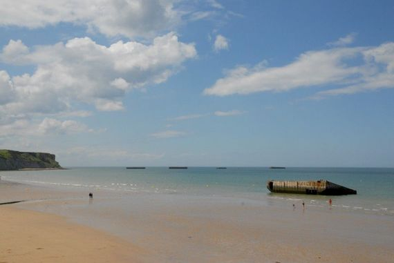 The historic beach at Arromanches