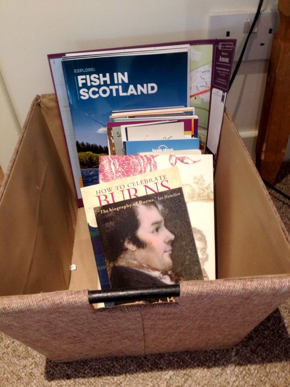 Guide books and Robert Burns books for our guests use