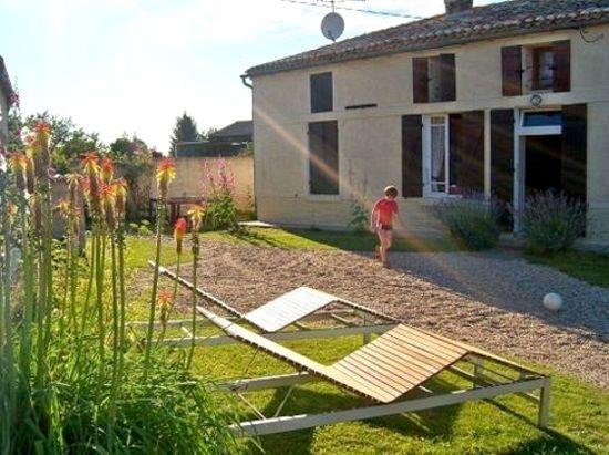 The farmhouse in the evening sun