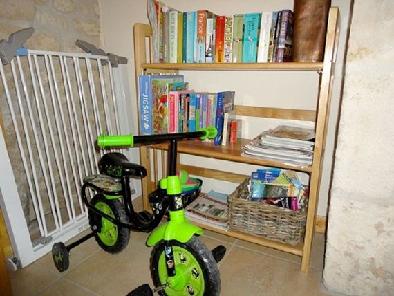Two stair gates - for top and bottom of the stairs if you wish.  The toddler bike is very popular