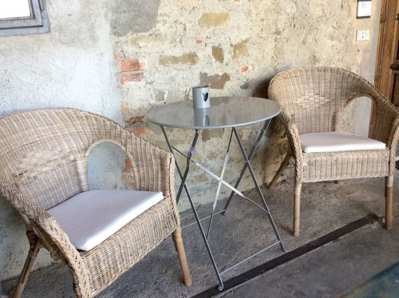 Shady loggia, perfect for breakfast!