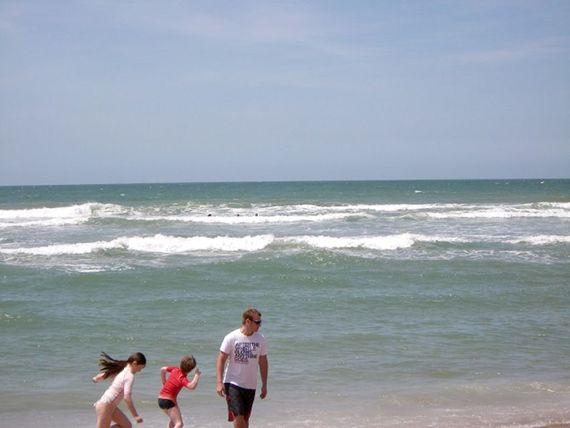 The Cote Sauvage - great surfing - borrow a body board from the games barn