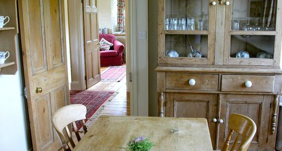 fully equipped kitchen with a door to your private garden