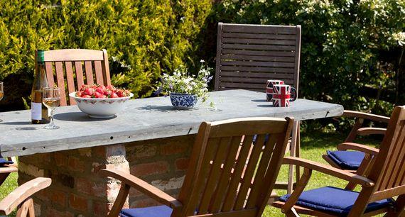 Lovely split level private garden.