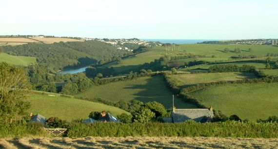 Treworgey Farm is set overlooking the Looe Valley