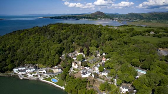 Above Portmeirion - we are top right!
