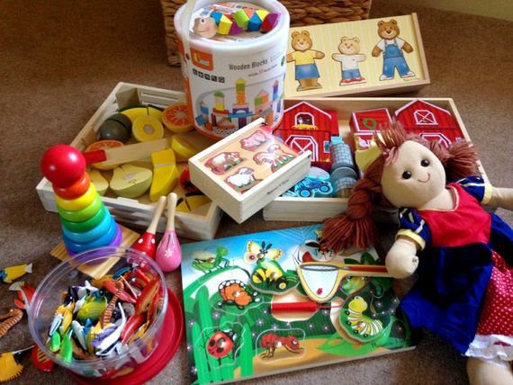 Toys provided to save on packing
