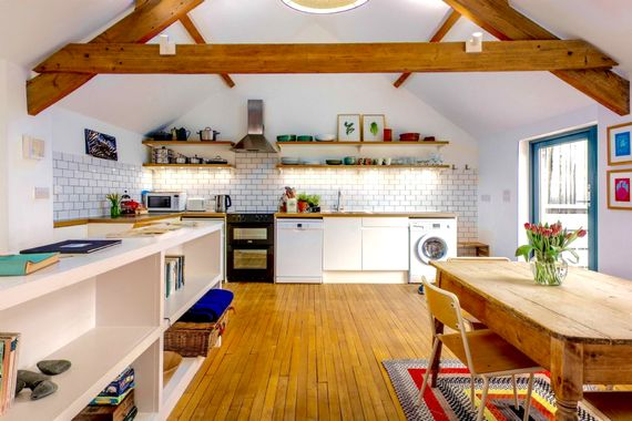 The open plan kitchen/diner