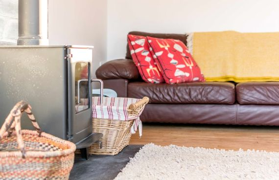 A woodburner for cosy nights in
