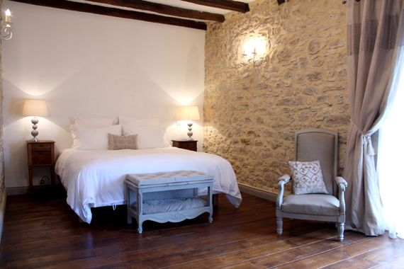 The master bedroom with Super King size bed and crisp white cotton sheets