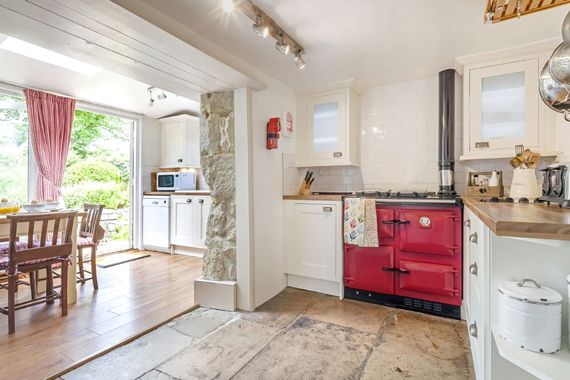 The kitchen with Rayburn Aga