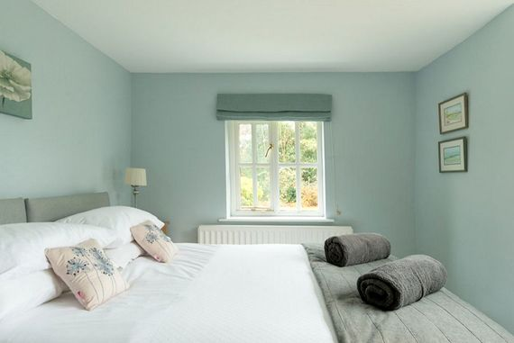 Downstairs bedroom with views over the garden