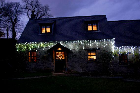 Xmas Lights Around Heather Cottage